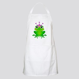 Purple Crown Frog Prince Apron